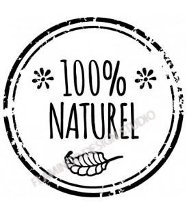 Rubber stamp - 100% Naturel