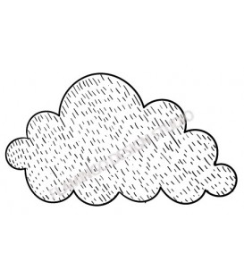 Rubber stamp - cloud 1