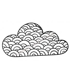 Rubber stamp - cloud 2
