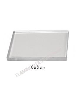 Bloc acrylique - 10 x 6 cm