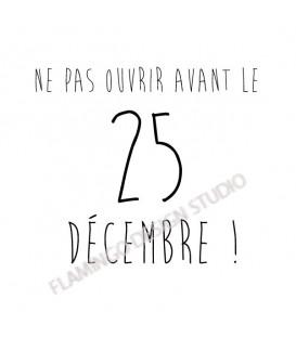 Ne pas ouvrir avant le 25 décembre