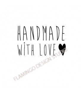handmade with love coeur