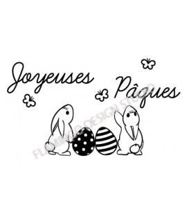 Joyeuses Pâques - Lapins papillons