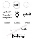 Rubber stamp - Gwen Scrap - The whole collection - 11 stamps