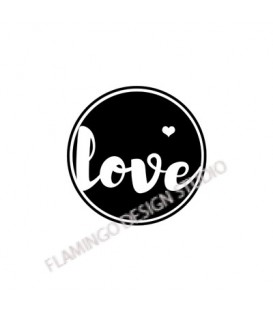 Rubber stamp - Gwen Scrap Collection 2- love
