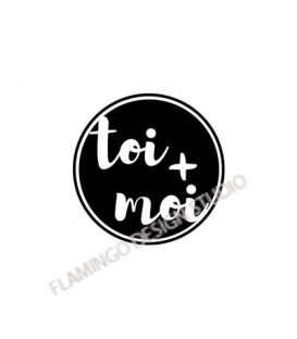 Rubber stamp - Gwen Scrap Collection 2- toi + moi (plain circle)
