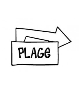 Rubber stamp - Plage