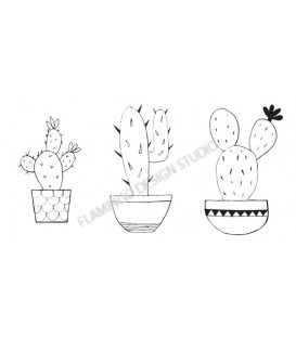 Rubber stamp - Trio Catus - 3 stamps