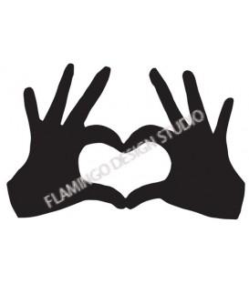 Tampon Coeur avec les mains - Grand