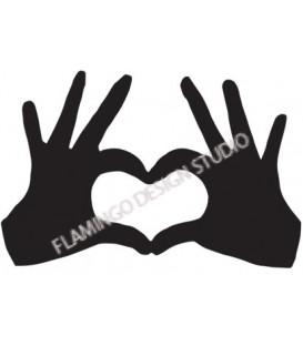 Tampon Coeur avec les mains - Petit