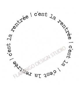 Rubber stamp - Gwen Scrap Collection 4 - c'est la rentrée (circle)