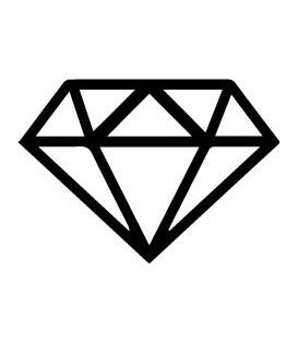 Tampon gomme naturelle -  Diamant évidé