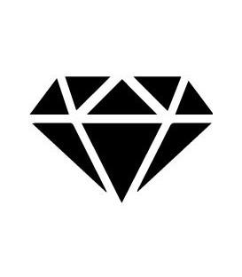 Tampon gomme naturelle -  Diamant origami plein