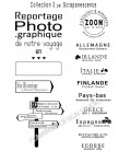 Rubber stamp - Scrapanescence - Complete collection 3 - 5 stamps