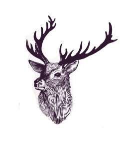 Rubber stamp - Deer Head