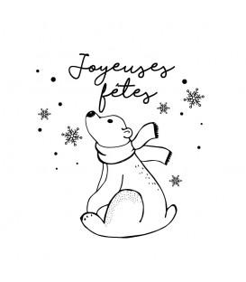 Rubber stamp - Bear Joyeuses Fêtes