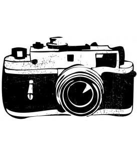 Tampon gomme naturelle -  Appareil photo rétro