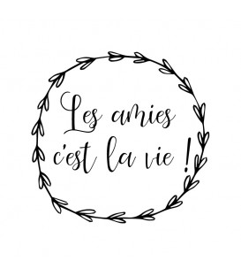 Rubber stamp - Wreath Les Amies