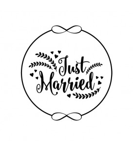 Rubber stamp - Wreath Just Married