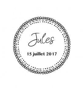 Tampon Naissance - Couronne festonnée - 2017A