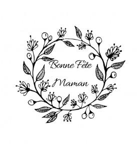 Bonne Fête Maman Couronne Fleurs